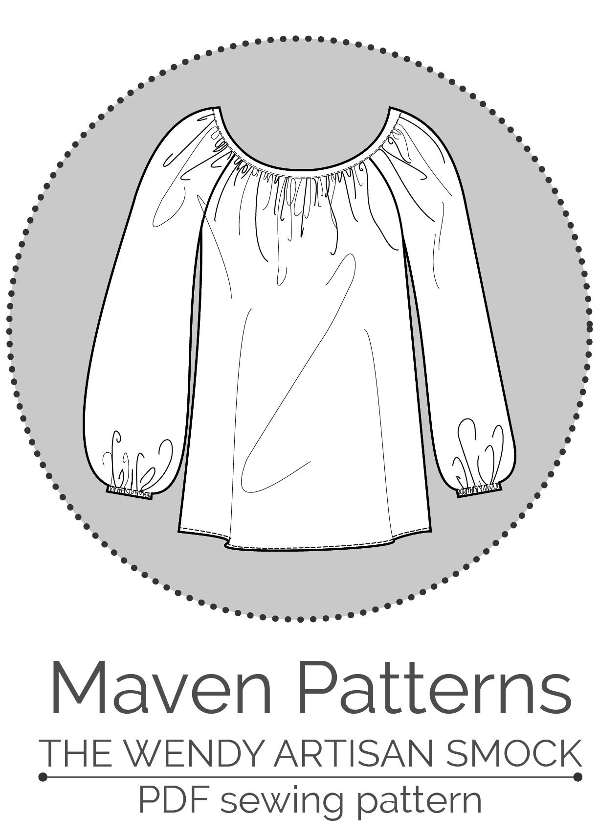 The Wendy Artisan smock - PDF SEWING PATTERN BY MAVEN PATTERNS | See ...