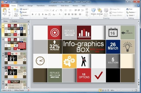 Animated infographics template for powerpoint powerpoint infographic templates for powerpoint can help you create infographics using flexible slide designs with clipart animations and well placed placeholders toneelgroepblik