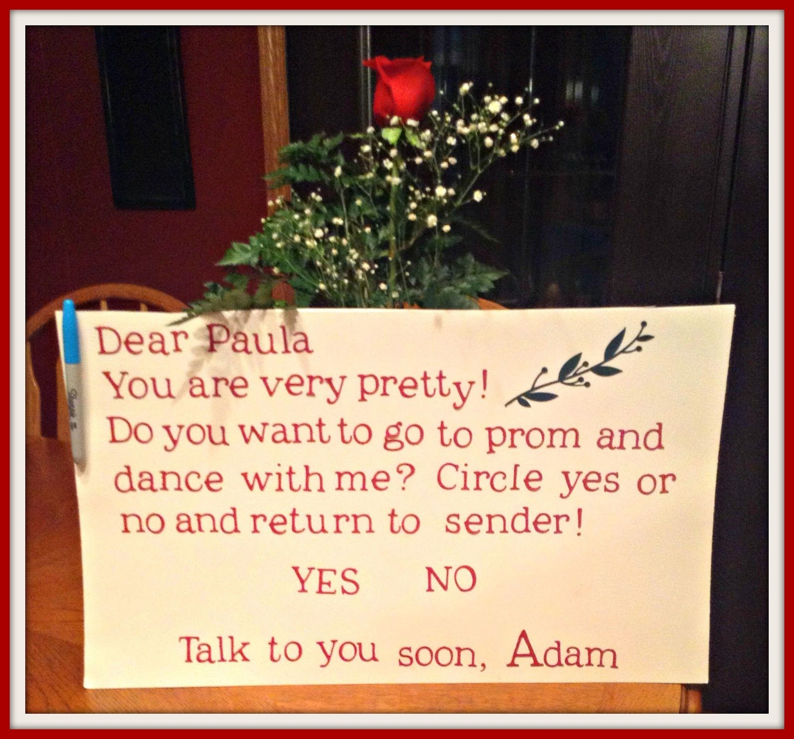 Cute Prom Proposal Posters Prom proposal poster ideas