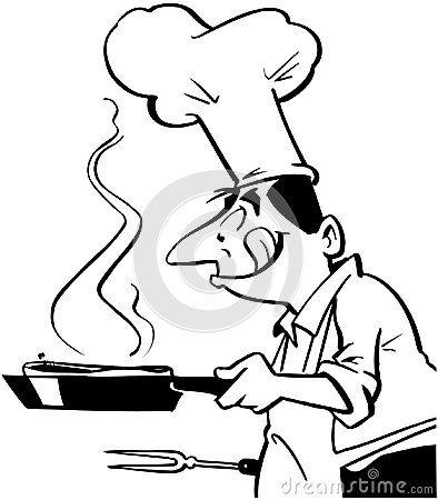 Chef Cooking Cartoon Chef Cooking Food Cartoon Vector Clipart Royalty Free Stock Image Cartoon Chef Cooking For A Group Cooking Icon