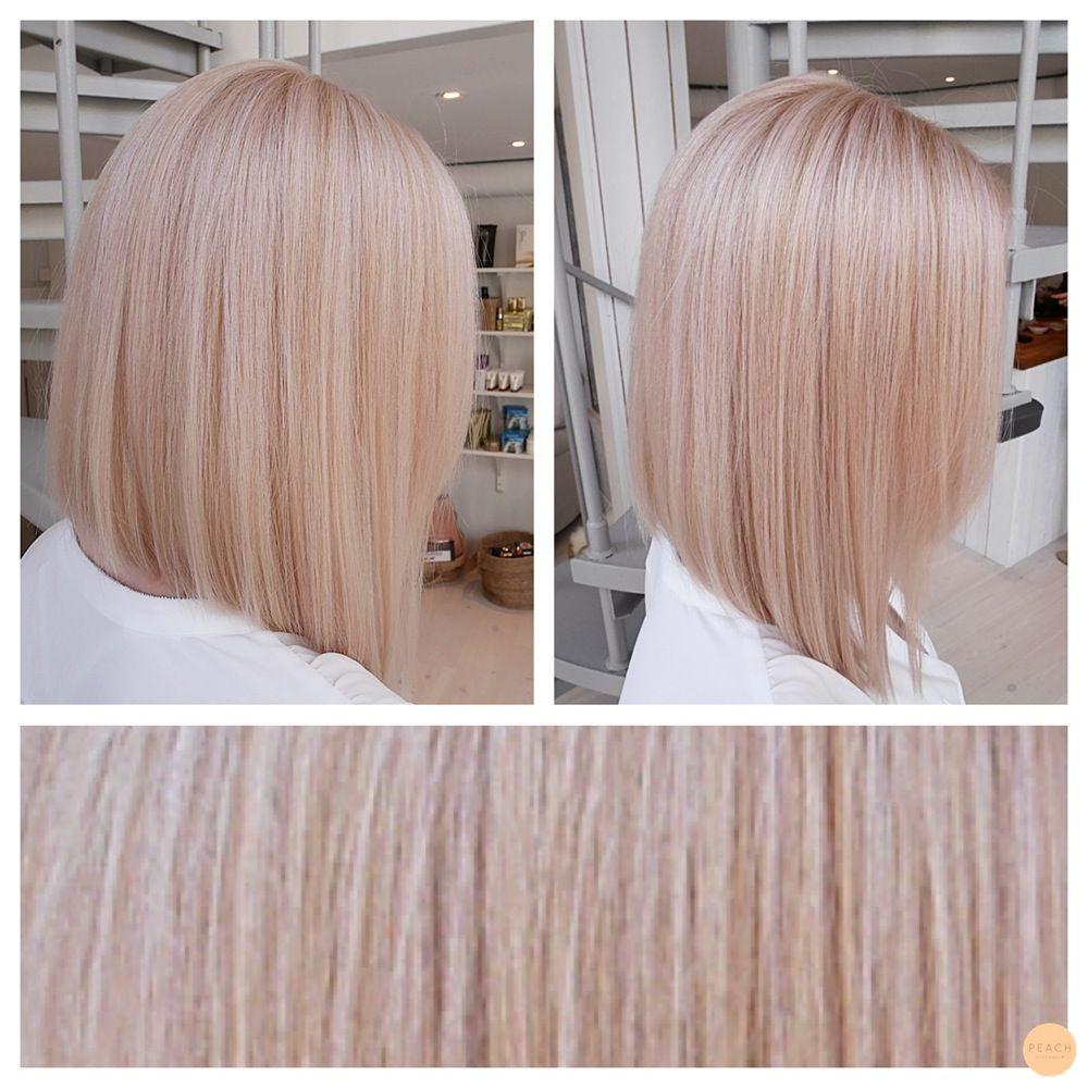 rosa blond hårfärg