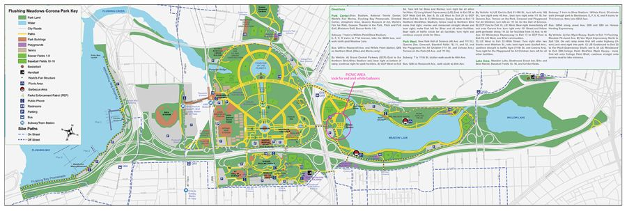 Flushing Meadows Corona Park Map Flushing Meadows Corona Park map | Summer Theme Party | Summer  Flushing Meadows Corona Park Map