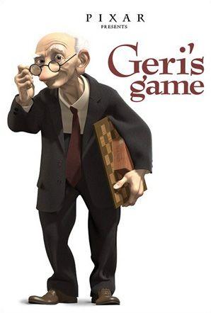 cortometraje Pixar: Geri's Game  El Juego de Geri (Geri's Game) es un cortometraje Pixar, ganador del Oscar en la categoría y un viaje a la demencia senil, el humor y la magia del mimo.