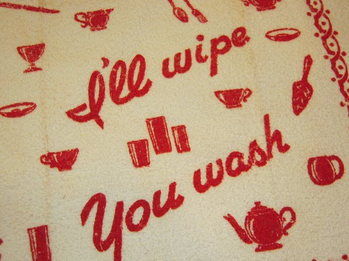 No, how about you wipe, you wash...