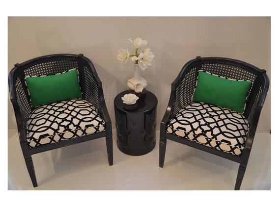 Best Sold Can Replicate Pair Of French Barrel Chairs Black 400 x 300