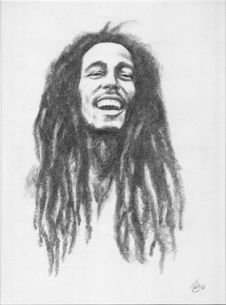 Bob Marley Fusain Bob Marley Artwork Bob Marley Painting