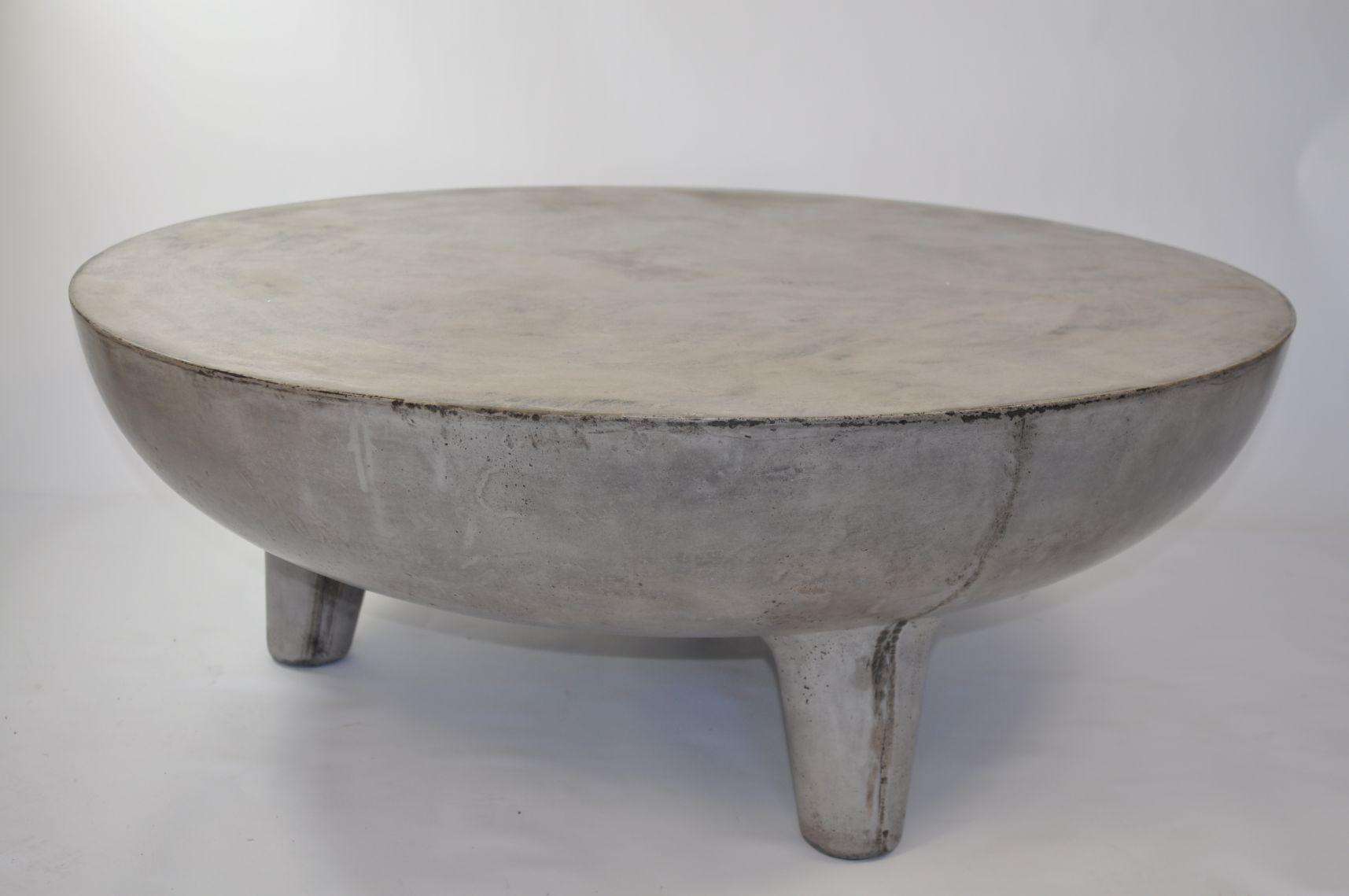 Greer Light Concrete Coffee Table Mecox Gardens Round Coffee Table Diy Coffee Table Diy Coffee Table [ 1139 x 1715 Pixel ]