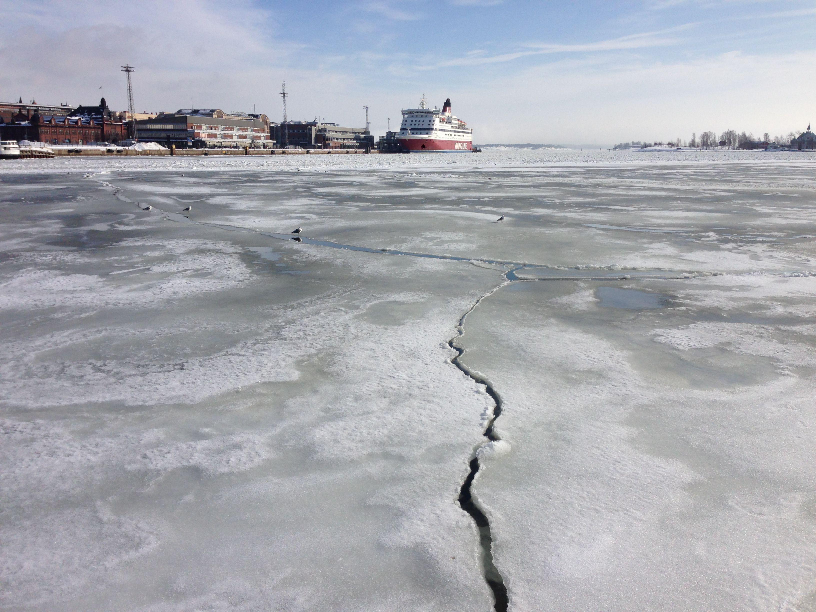 Frozen sea Helsinki