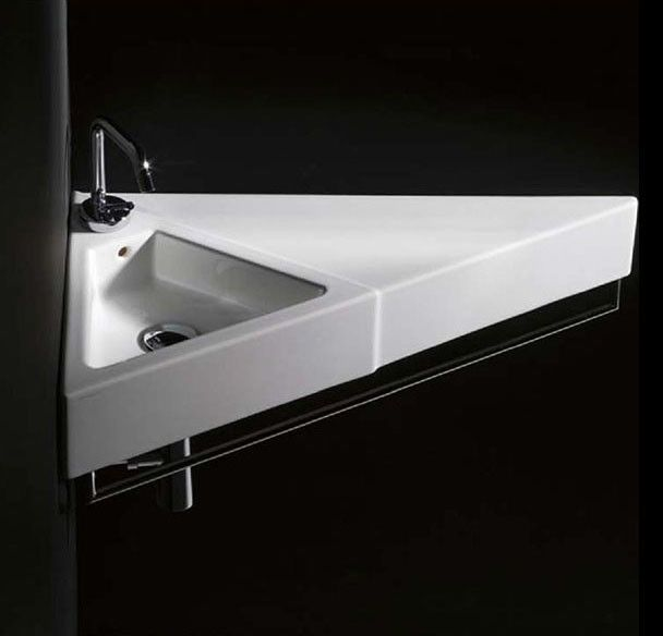Sign Ceramic 28 Quot Corner Bathroom Sink Contemporary