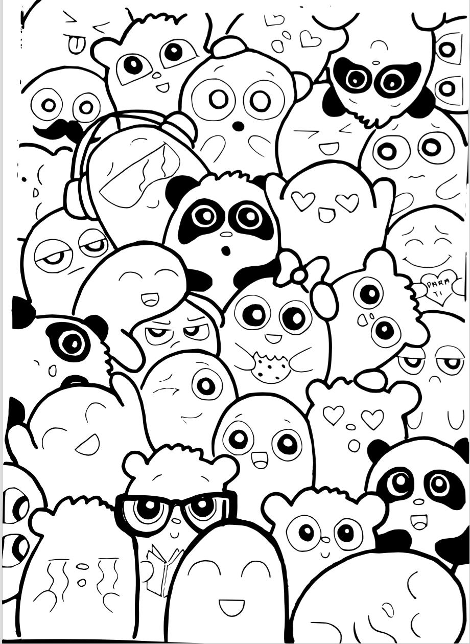 Template Doodle / Caricatura | Decora tus Libretas o Cuadernos ...