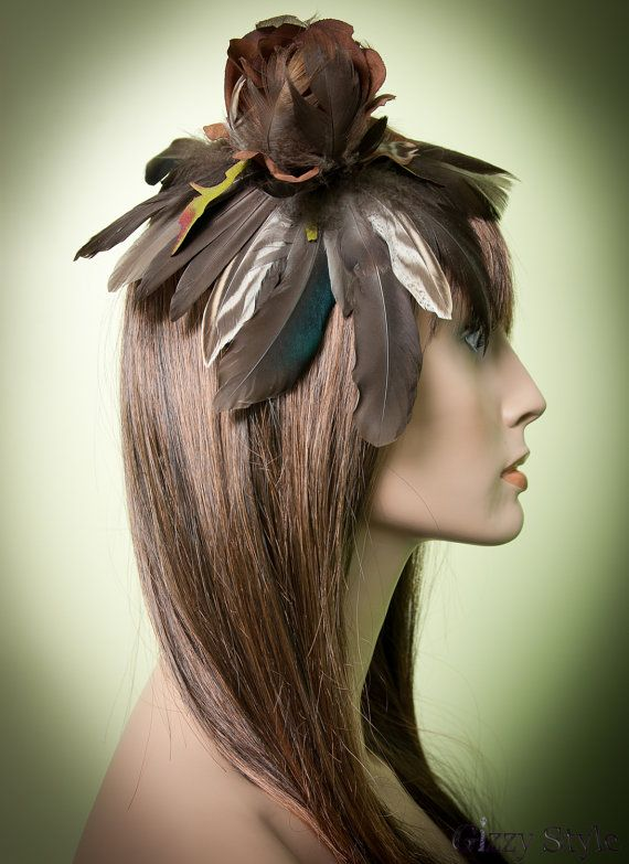 Feather Fascinator $55.00