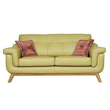 Pistachio Kandinsky Medium Leather Sofa Medium Sofas
