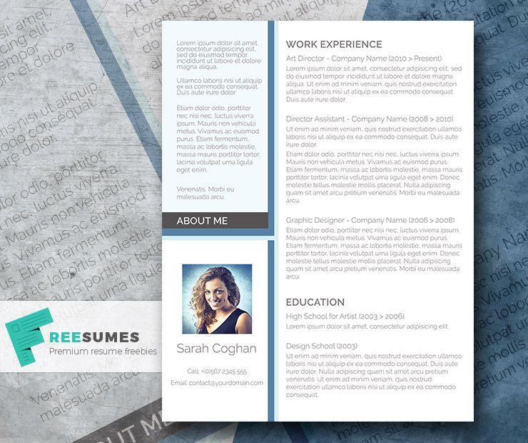 Free Modern Resume Templates A Splash Of Blue  The Free Modern Resume Design  Modern Resume