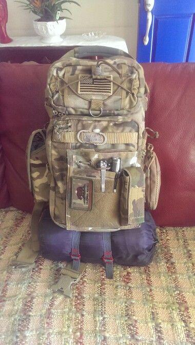 396b39b0ec6 My tactical EDC   hiking pack. Vanquest trident 20