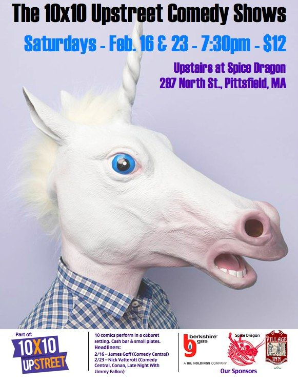 Two of the over 70+ events at this week's 10X10 Upstreet Arts Festival in the Berkshires, kicking off this weekend!