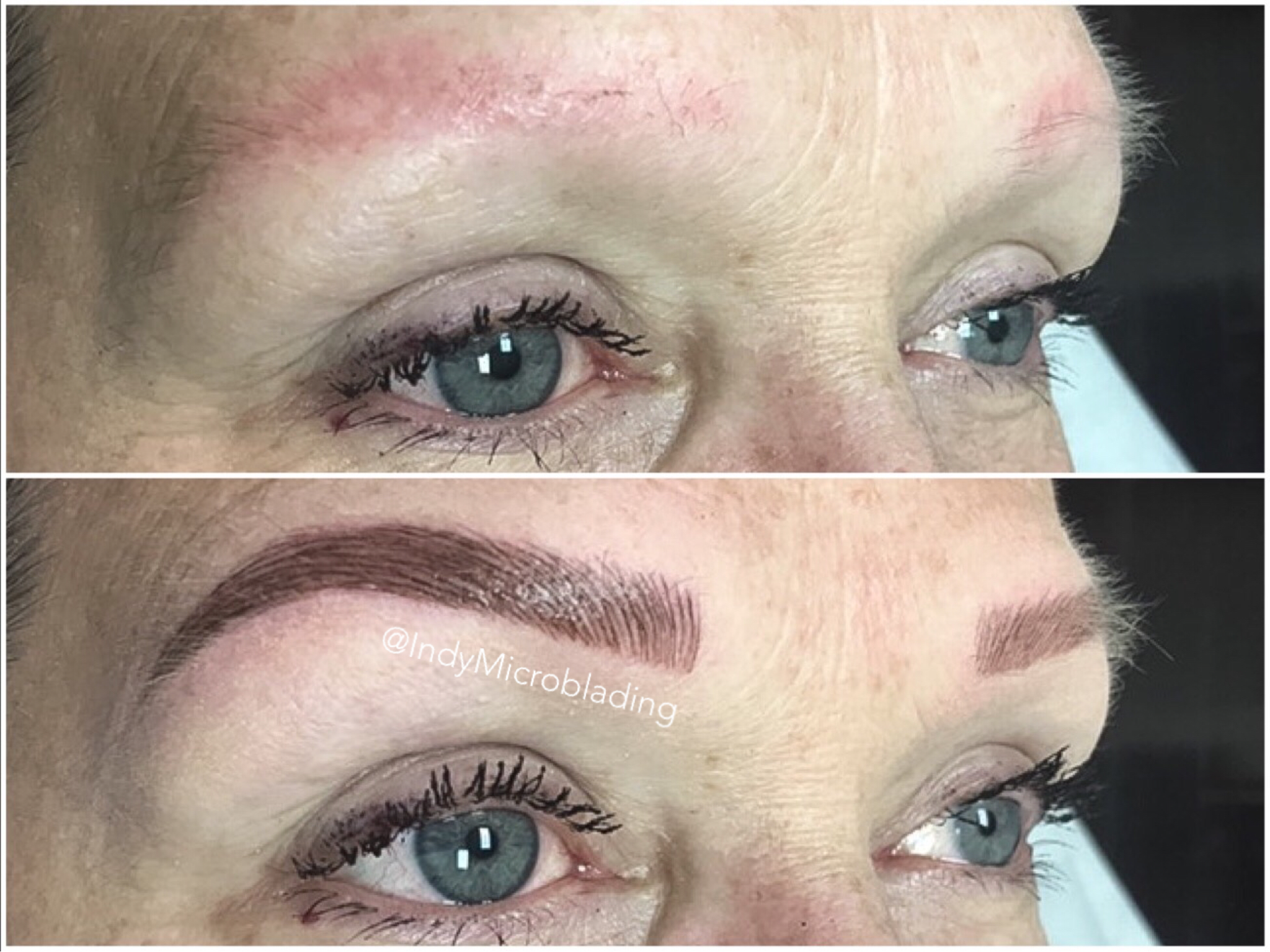 eyebrow microblading blonde hair. indy microblading, eyebrows on fleek, midwest indiana eyebrow microblading blonde hair r