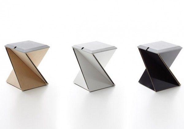Origami Inspired Folding Stool By Yves Behar