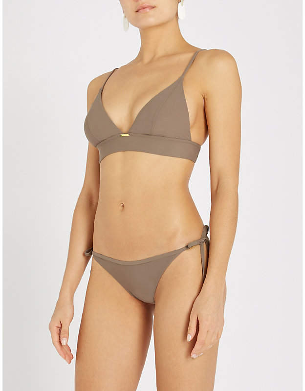29b273edbd5 Calvin Klein Longline triangle bikini top in 2019