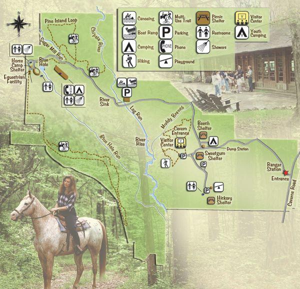 Florida Caverns State Park Map flc map. (600×578) | Florida state parks, State parks, Florida