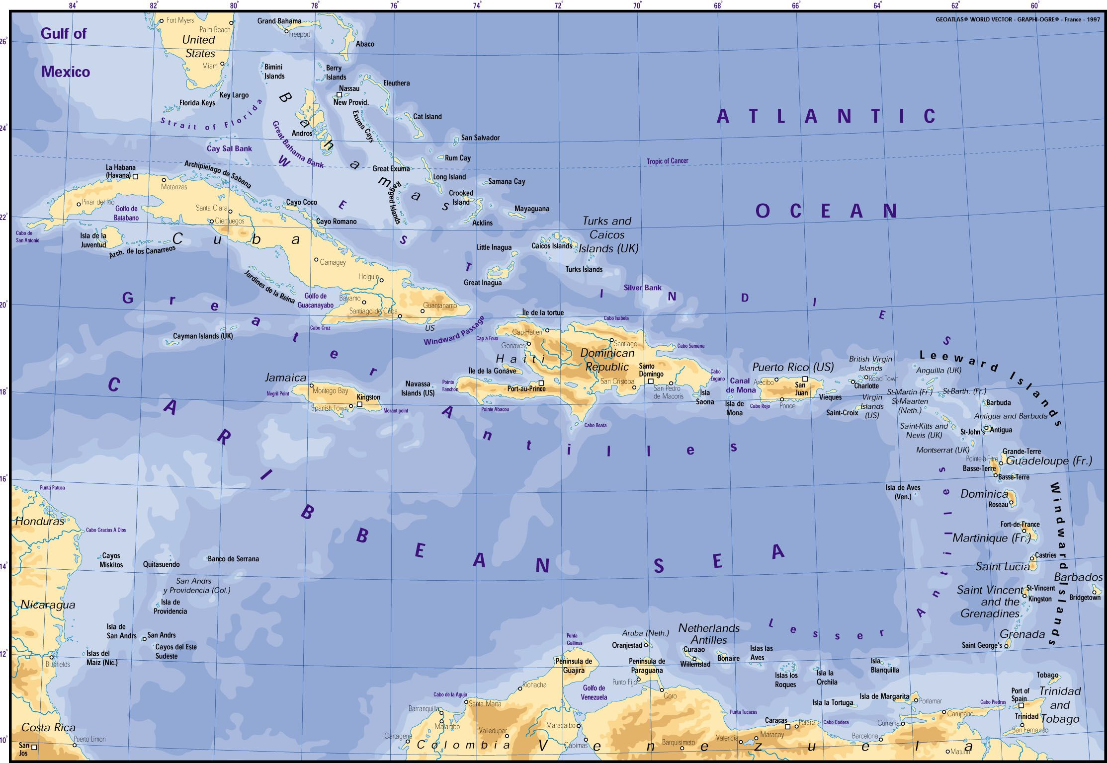 World Map Of West Indies | Grenada To Be Removed From World ...