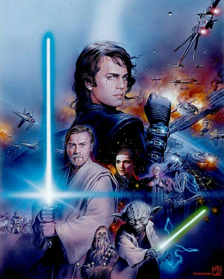 Revenge Of The Sith Art Starwars Star Wars Images Star Wars Painting Star Wars Geek