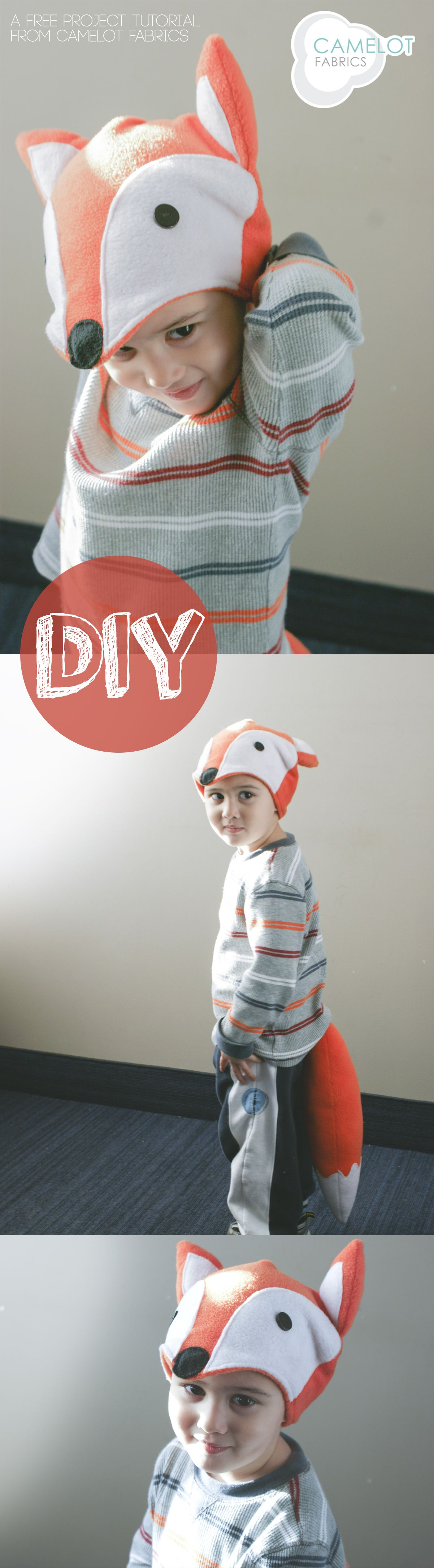 How To's Day: DIY Halloween Costume – Fleece Fox Hat & Tail ...