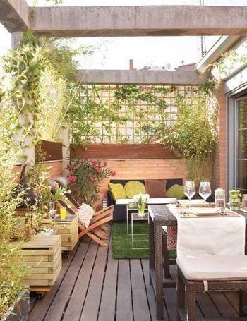 Un Buen Jardin Es Espacios Chicos En 2019 Terrazas