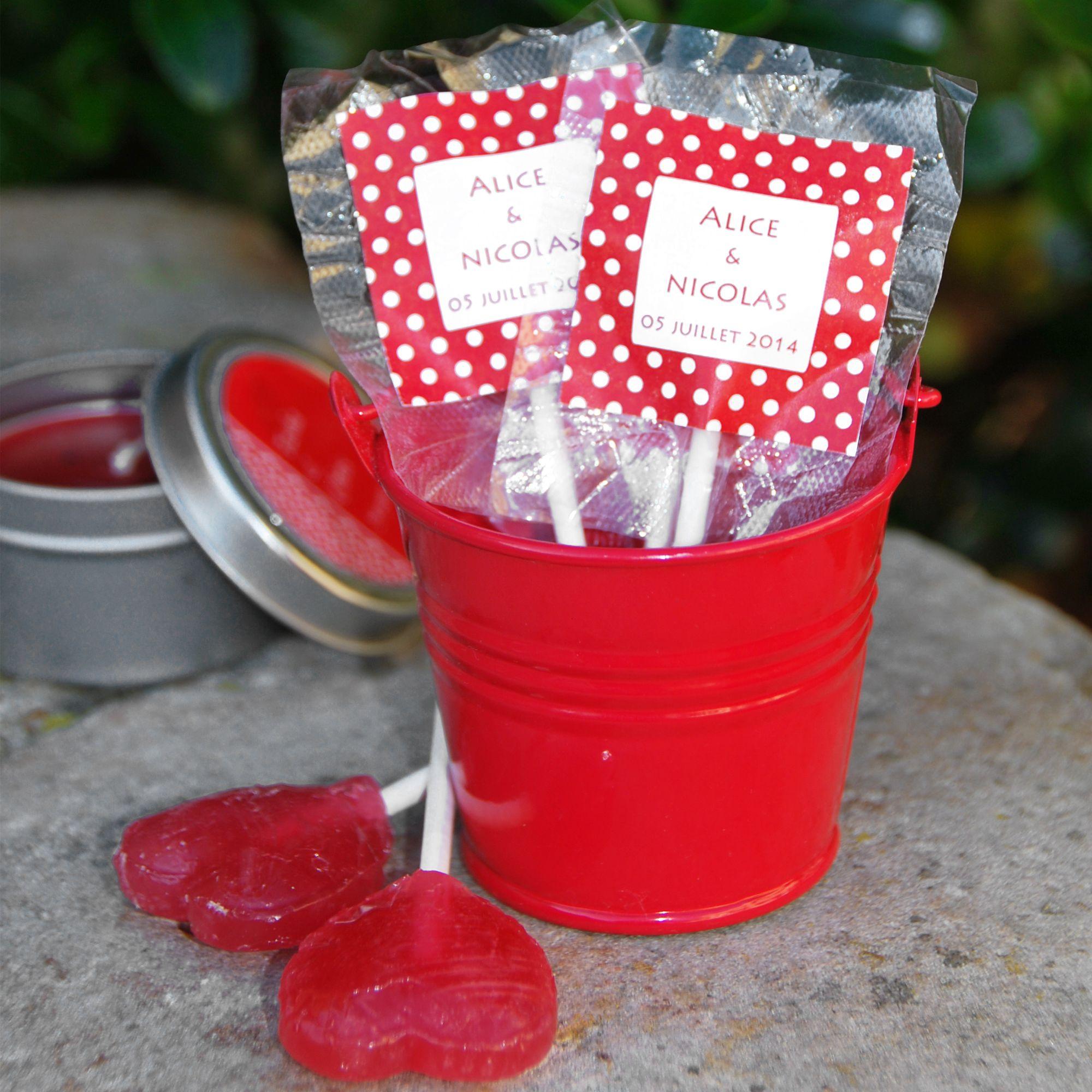 sucette coeur personnalis e aux pr noms des mari s bonbons candy bar mariage cadeau invit s. Black Bedroom Furniture Sets. Home Design Ideas