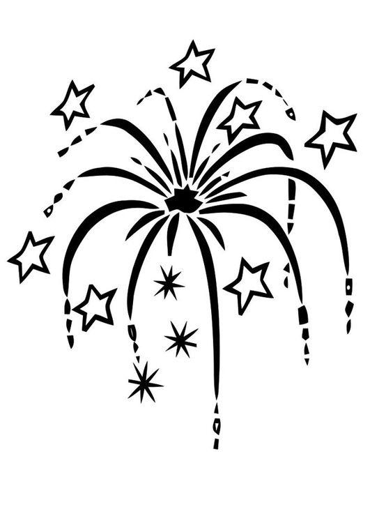 Dibujo para colorear fuegos artificiales | navidad | Pinterest ...