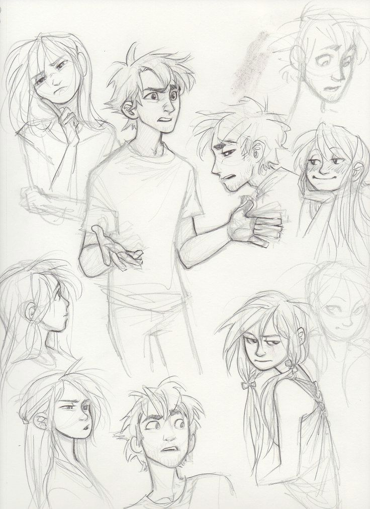 Teenagers Character Sketches Character Design Sketches