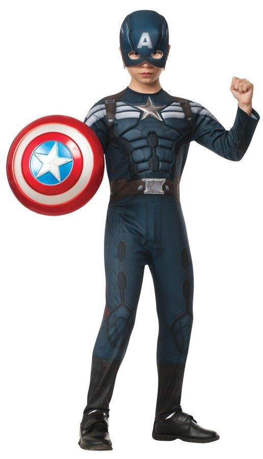 Explore Boys Superhero Costumes and more!  sc 1 st  Pinterest & SUPER-HERO - CAPTAIN AMERICA 2 STEALTH HALLOWEEN COSTUME FOR BOYS ...