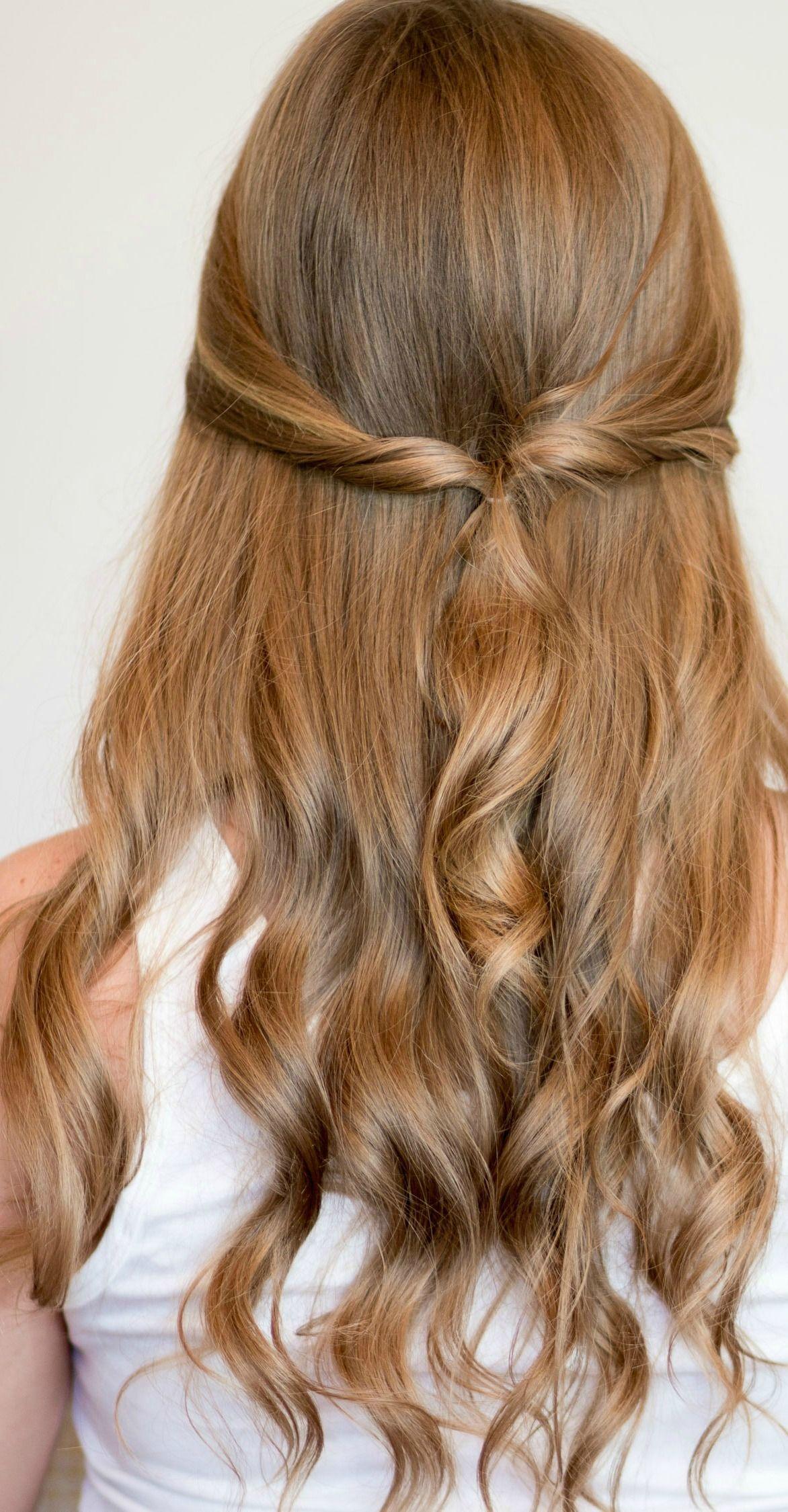 Easy heatless hairstyles for long hair hair pinterest ashley