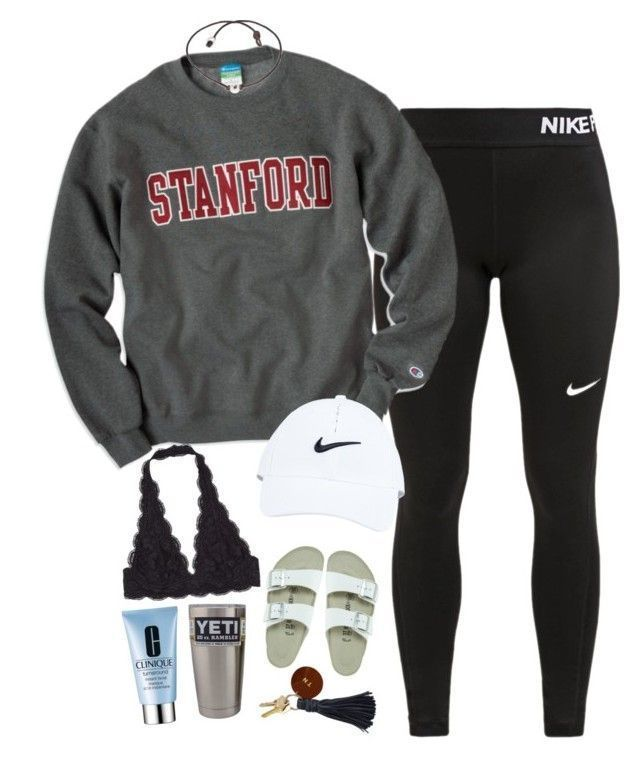 """Untitled #40"" by ainlsley ❤️ liked on Polyvore featuring NIKE, Birkenstock ... - Sandra"