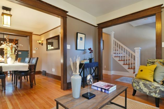 Living Room Paint Ideas With Dark Wood Trim real estate profile, dec. 19, 2011 | craftsman lighting, dark wood