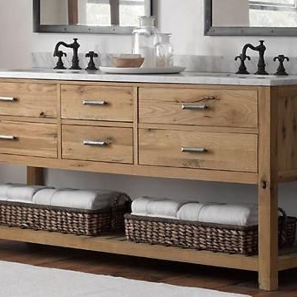 Reclaimed Wood Bathroom Vanity In 2019 Bathing Beauty