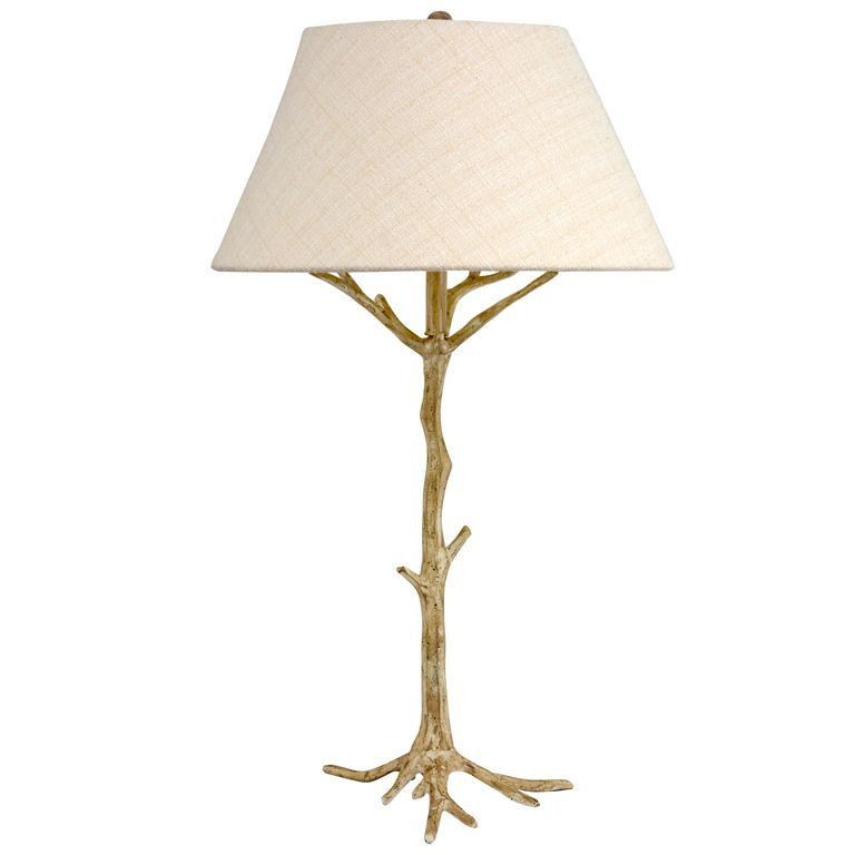 Twig Table Lamp   U003cpu003eNature Inspired Tree Table Lamp Shown In Antique Brass