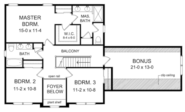 Traditional Style House Plan 3 Beds 2 5 Baths 1969 Sq Ft Plan 1010 143 Floor Plan Design House Plans Floor Plans