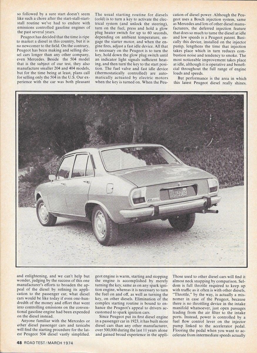 RT0374Peugeot504Dp3 Peugeot, Diesel, Vintage