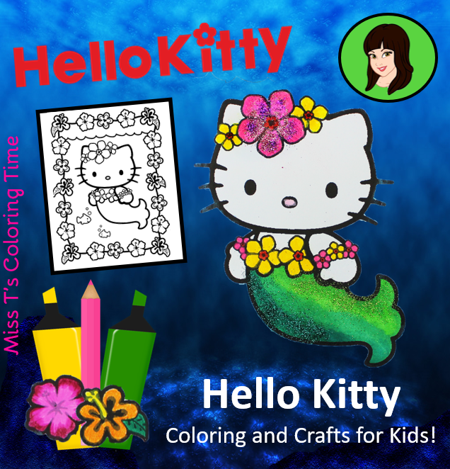 Hello Kitty Mermaid Coloring Page Video For Kids Hello Kitty Really Wants Miss T To Co Hello Kitty Colouring Pages Mermaid Coloring Pages Hello Kitty Coloring