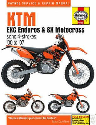 2000 2007 Ktm 250 400 450 520 525 Sx Exc Haynes Repair Manual Buy Now Only 23 95 Ktm Exc Ktm Repair Manuals