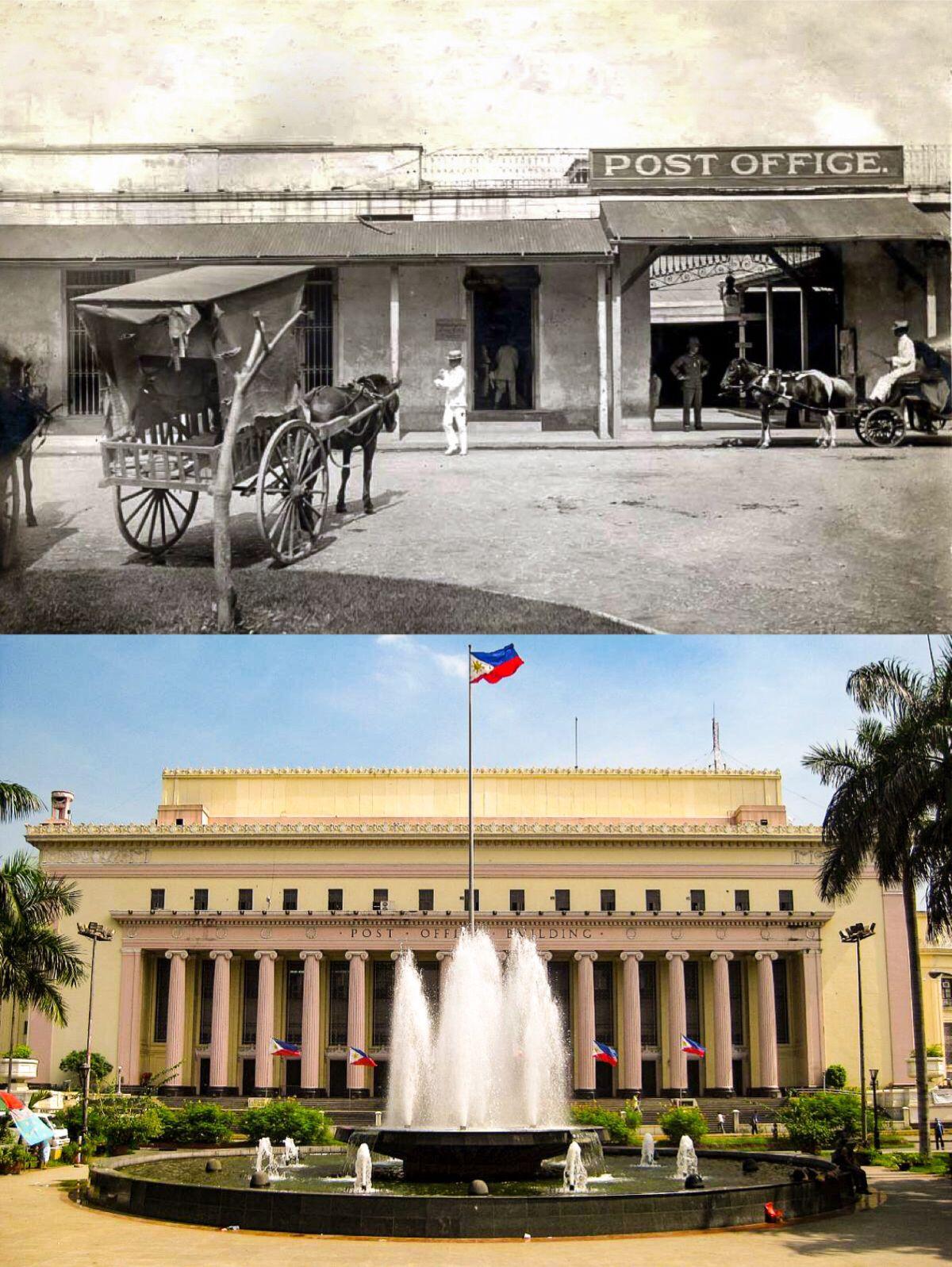 The Original MANILA CENTRAL POST OFFICE Location Liwasang