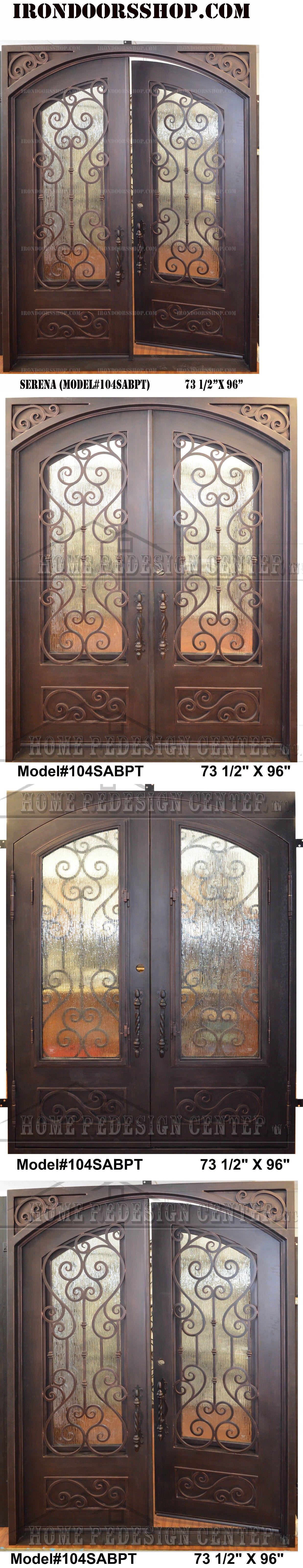 Buy Double Doors Doors 85892 Serena Wrought Iron Double Doors Operable Glass In
