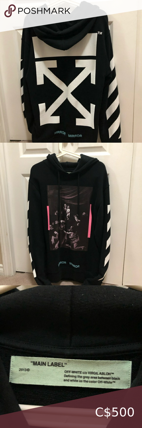 Authentic Off White Mirror Mirror Hoodie 100 Authentic Got It From Ssense Size Small Condition 10 10 No Pilling No Peeli Mirror Hoodie Hoodies Clothes Design [ 1740 x 580 Pixel ]