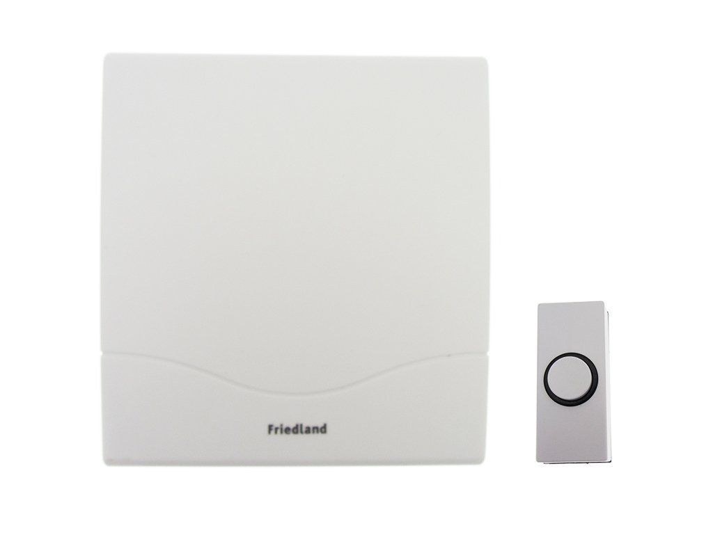Incroyable Friedland D142M Mechanical Mini Wired Door Chime Kit With Bell Push And  Cable