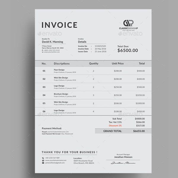 Invoice 4 Invoice Design Invoice Template Templates