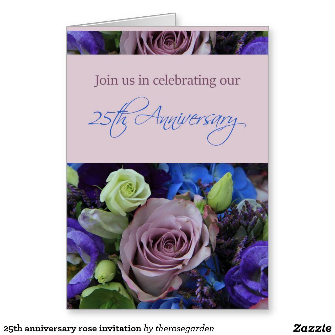 sapphire wedding anniversary invitations%0A   th anniversary rose invitation greeting card