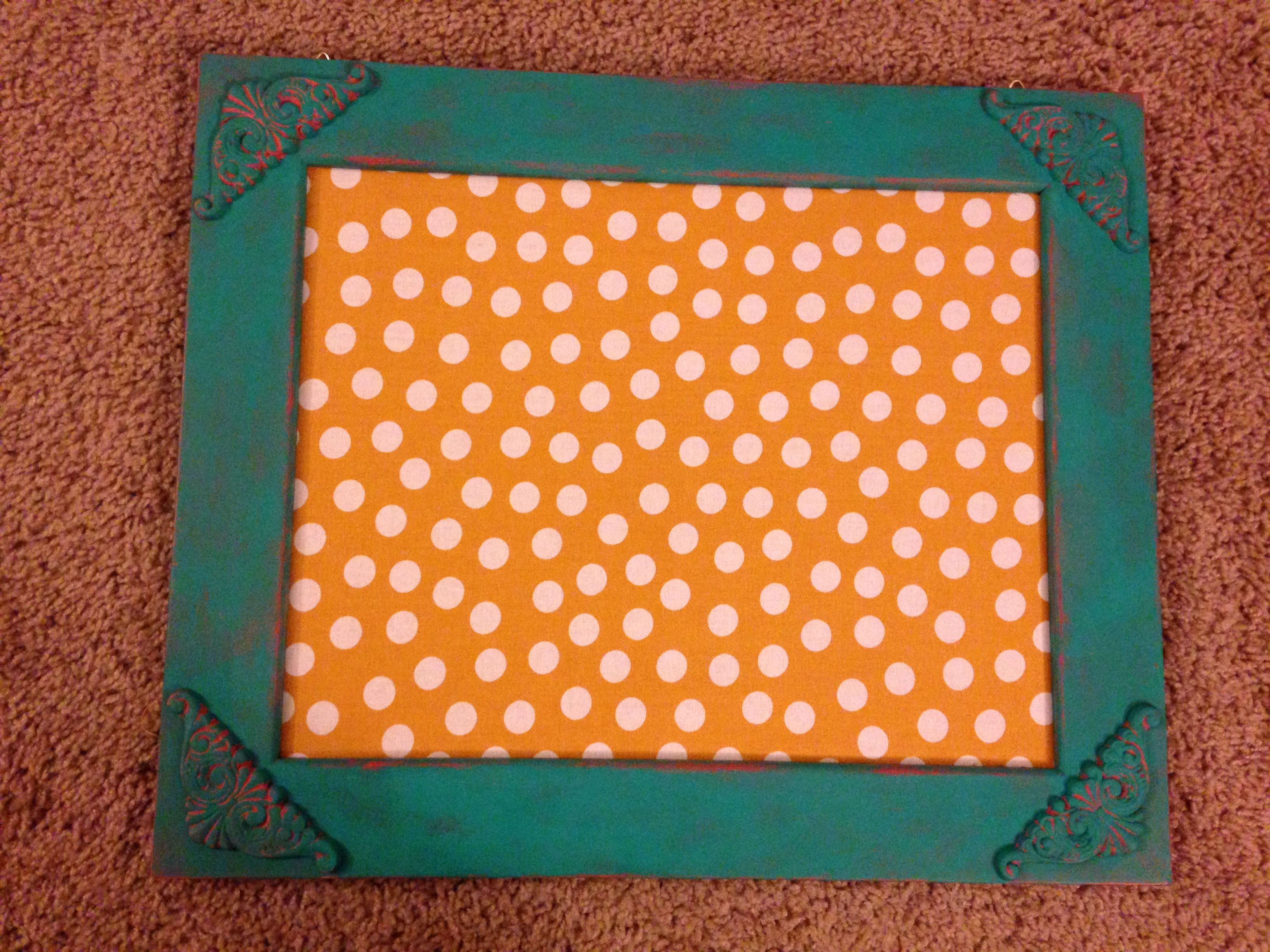 Memo board for my new office! Why pay for something store-bought when you can make it yourself!