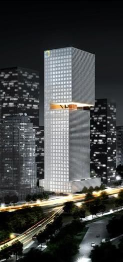 Essence Financial Building, Shenzhen, China by Rem Koolhaas of Office for Metropolitan Architecture (OMA) :: 38 floors, height 180m
