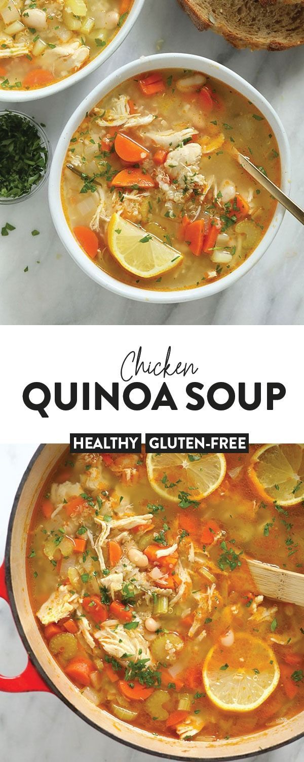 Photo of Chicken Quinoa Soup – Fit Foodie Finds