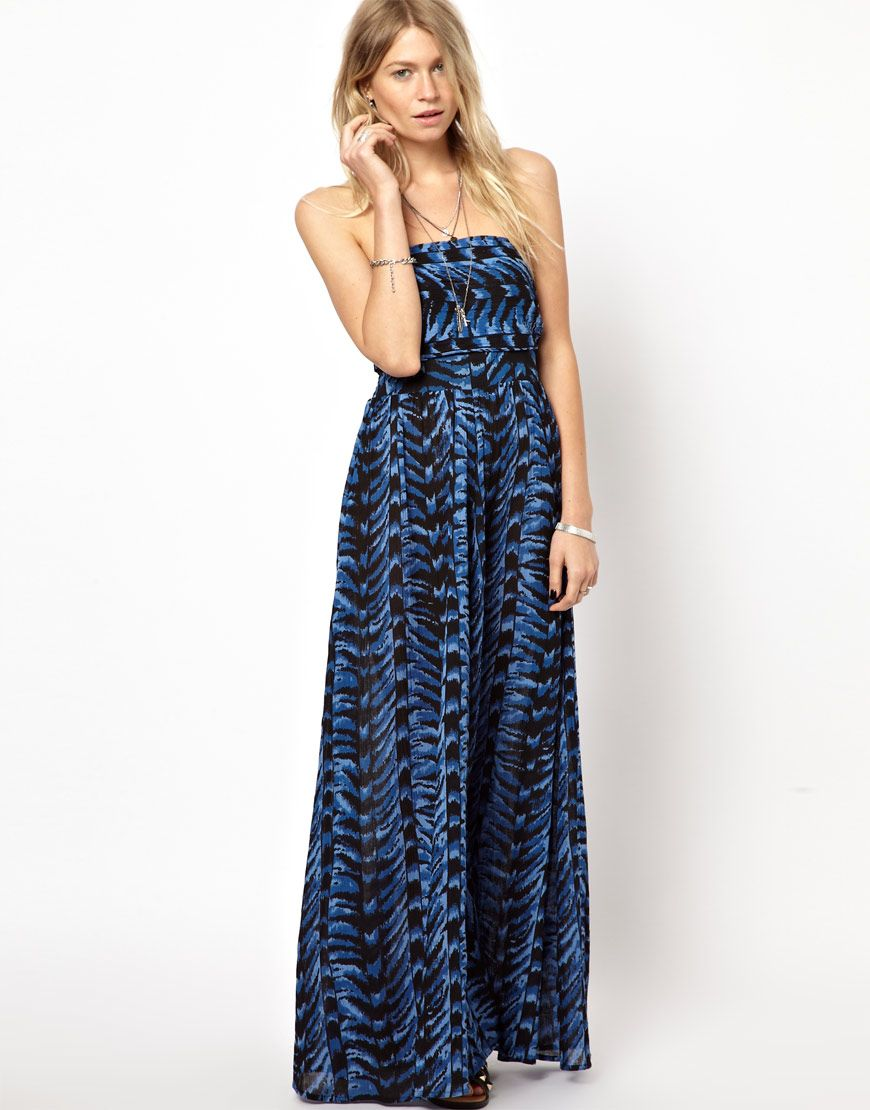 ASOS Maxi Dress in Aztec Print with Bow Back   Clothing   Pinterest ... d09e06a09564